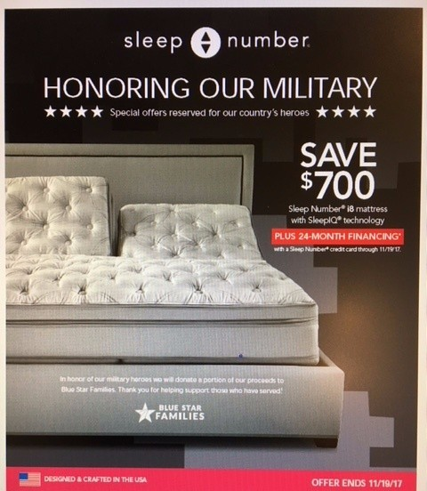 Sleep Number Sale Through November 19th