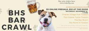 Baltimore Humane Society's Bar Crawl